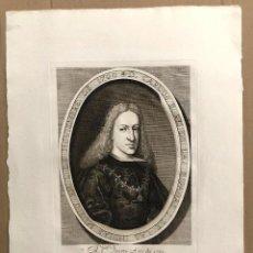 Arte: GRABADO CALCOGRAFICO CARLOS II, REI DE LAS ESPAÑAS I DE LAS INDIAS. AÑO 1761. Lote 184545222