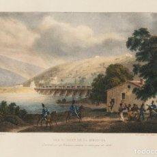 Arte: ESCUELA FRANCESA S.XIX - TÍTULO: VUE DE PONT DE LA BIDASSOA 1823. Lote 184620222