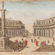 Arte: ESCUELA ITALIANA S. XIX - GRABADO COLOREADO SOBRE PAPEL - TÍTULO: VISTA OPTICA DE ALEJANDRIA. Lote 184621451