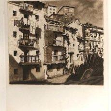 Arte: GRABADO AGUAFUERTE MOTRIKO. GIPUZKOA. AÑO 1937. Lote 184629103