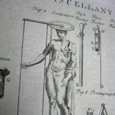 Arte: CURIOSO GRABADO ORIGINAL S.XVIII - MISCELANIA. Lote 184794862