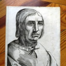 Arte: EXCEPCIONAL GRABADO SIGLO XVI- GRABADOR: ANTONIO DE SALAMANCA . RETRATO DE JACOBO SANNZAZZARO. Lote 184809348