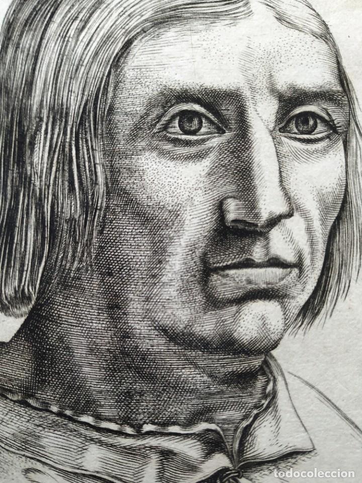 Arte: EXCEPCIONAL GRABADO SIGLO XVI- GRABADOR: ANTONIO DE SALAMANCA . RETRATO DE JACOBO SANNZAZZARO - Foto 3 - 184809348