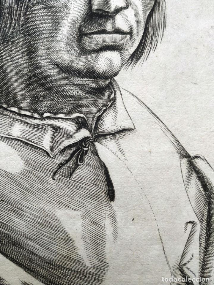 Arte: EXCEPCIONAL GRABADO SIGLO XVI- GRABADOR: ANTONIO DE SALAMANCA . RETRATO DE JACOBO SANNZAZZARO - Foto 4 - 184809348