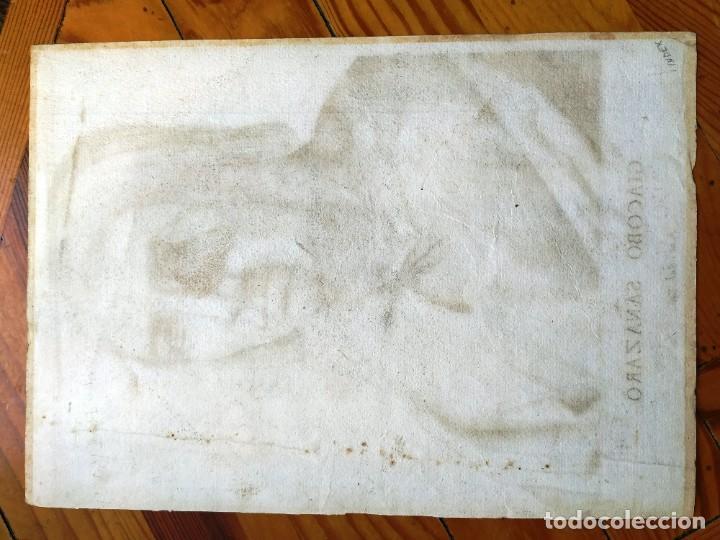 Arte: EXCEPCIONAL GRABADO SIGLO XVI- GRABADOR: ANTONIO DE SALAMANCA . RETRATO DE JACOBO SANNZAZZARO - Foto 5 - 184809348