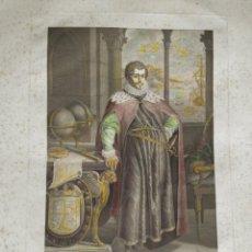 Arte: GRABADO RETRATO GRANDE DE CRISTOBAL COLON [SIGLO 18 - 19]. Lote 185418747
