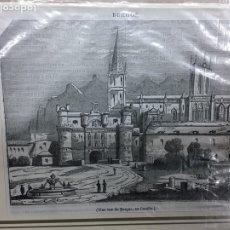 Arte: 1837-GRABADO ORIGINAL.XILOGRAFÍA. BURGOS. Lote 185728018