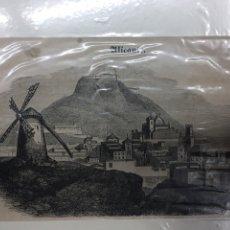 Arte: 1854-GRABADO ORIGINAL. XILOGRAFÍA. ALICANTE.. Lote 185729145
