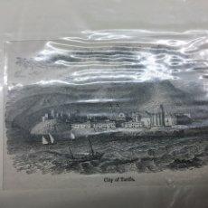 Arte: 1880-GRABADO ORIGINAL. XILOGRAFÍA. TARIFA. Lote 185729240