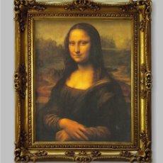 Arte: CUADRO LA GIOCONDA. LEONARDO DA VINCI. 63X52CM. Lote 185917283