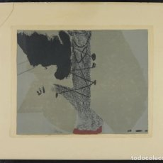 Arte: A3-062. GRABADO. AGUAFUERTE. AGUA TINTA. PRUEBA DE AUTOR. FIRMADO ANTONI TAPIES. 1961. . Lote 185979911