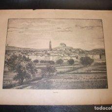 Arte: 1886 GRABADO DE FRAGA HUESCA PROCEDENTE DE LA ILUSTRACION ARAGON. Lote 185991847