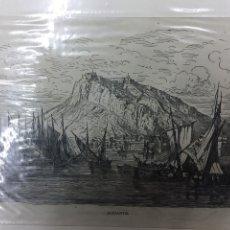 Arte: 1880-GRABADO ORIGINAL. XILOGRAFÍA. ALICANTE. GUSTAVO DORÉ.. Lote 185999038