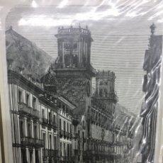 Arte: 1889-GRABADO ORIGINAL. XILOGRAFÍA. ALICANTE. AYUNTAMIENTO. Lote 185999133