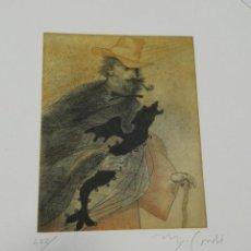 Arte: MIGUEL CONDÉ - GRABADO - AÑO SANTIAGO RUSIÑOL 2006 2007 SITGES - EN CARPETA 222 / 250. Lote 186007820