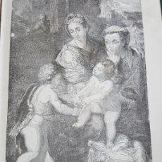 Arte: GRABADO 1896. MADRID. MUSEO DEL PRADO. LA PERLA. RAFAEL. ORIGINAL. PROCEDE DEL CALLEJA. 22 X 14 CM. Lote 186096402