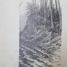 Arte: GRABADO 1896. VALENCIA..PAISAJE DEL JUCAR. ORIGINAL. PROCEDE DEL CALLEJA. 22 X 6 CM. Lote 186105140