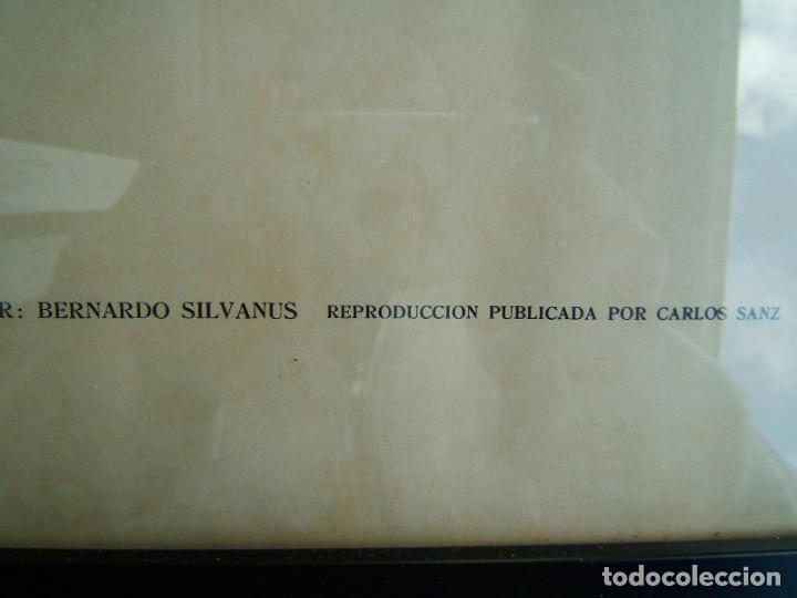Arte: MAPA UNIVERSAL DE 1511-BERNARDO SILVANUS-ENMARCADO Y CON VIDRIO-REPRODUCCION POR MARCOS SANZ-AÑOS 50 - Foto 4 - 186137386