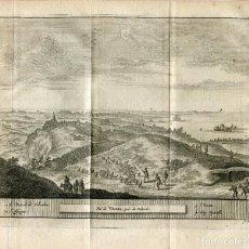 Arte: GIBRALTAR. VUE DE VEGEL PRÉS DU DETROIT. GRABADO POR PIETER VAN DER AA, 1715. Lote 186171913