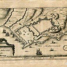 Arte: PLANO DE TARRAGONA, GRABADO POR PIETER VAN DER AA EN 1715. Lote 186174340