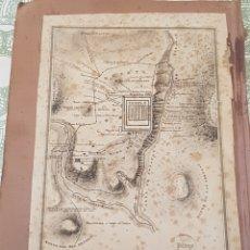 Arte: GRABADO PABLO ALABERN 1823 A 1850 PLANO DE JERUSALÉN EN TIEMPO DE JESÚS ESCALA EN PIES DE BURGOS. Lote 186229350