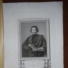 Arte: GRABADO SIGLO XVIII.CONDE DUQUE DE OLIVARES.RETRATOS ESPAÑOLES ILUSTRES. Lote 186283682