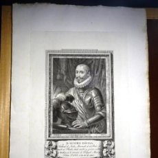 Arte: GRABADO AL ACERO DON SANCHO DE AVILA, SIGLO XVIII. RETRATOS ESPAÑOLES ILUSTRES. Lote 186284315