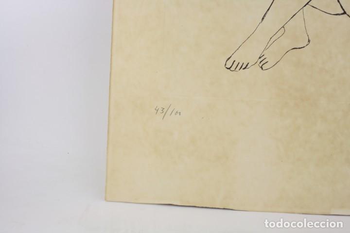 Arte: Joan Rebull (1899 - 1981), grabado, mujer sentada, tiraje 43 / 60, firmado. 70x53cm - Foto 2 - 186290575