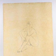 Arte: JOAN REBULL (1899 - 1981), GRABADO, MUJER SENTADA, TIRAJE 43 / 60, FIRMADO. 70X53CM. Lote 186290575
