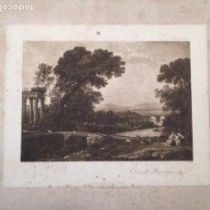Arte: GRABADO CLAUDE LORRAIN NUMERADO 1600-1682. Lote 186400566