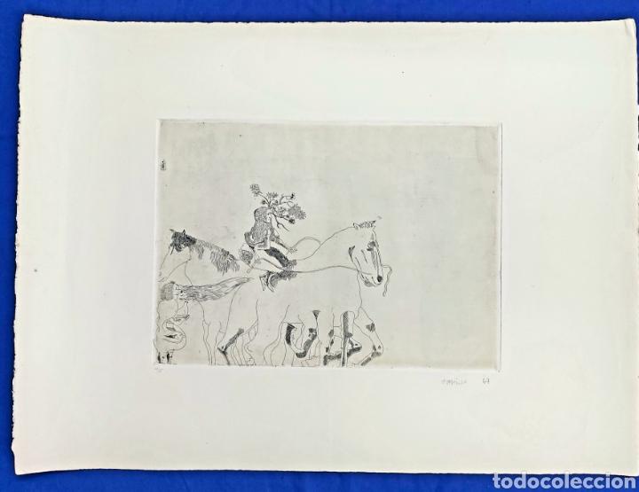 Arte: GRABADO JORGE CASTILLO (PONTEVEDRA 1933) 78x57cm - Foto 2 - 186455926