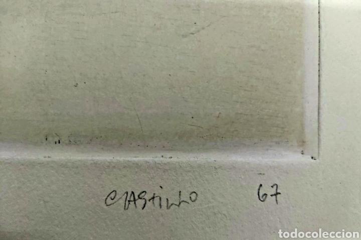 Arte: GRABADO JORGE CASTILLO (PONTEVEDRA 1933) 78x57cm - Foto 4 - 186455926