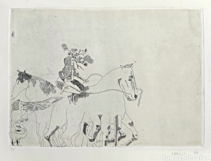 GRABADO JORGE CASTILLO (PONTEVEDRA 1933) 78X57CM (Arte - Grabados - Contemporáneos siglo XX)