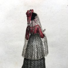 Arte: GRABADO MUJER TRAJE MADRID - R. ACKERMANN - 1825 - LADY OF MADRID. Lote 187384423