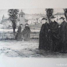 Arte: RICARDO BAROJA (HUELVA 1879-1954) GRABADO CURAS VASCOS 13X21 PAPEL 75X53CMS AÑO 1975 CALCOGRAFÍA NAC. Lote 187447232