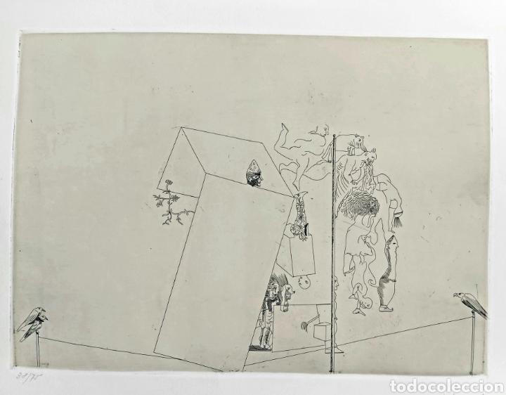 GRABADO JORGE CASTILLO CASALDERREY (PONTEVEDRA 1933) (Arte - Grabados - Contemporáneos siglo XX)