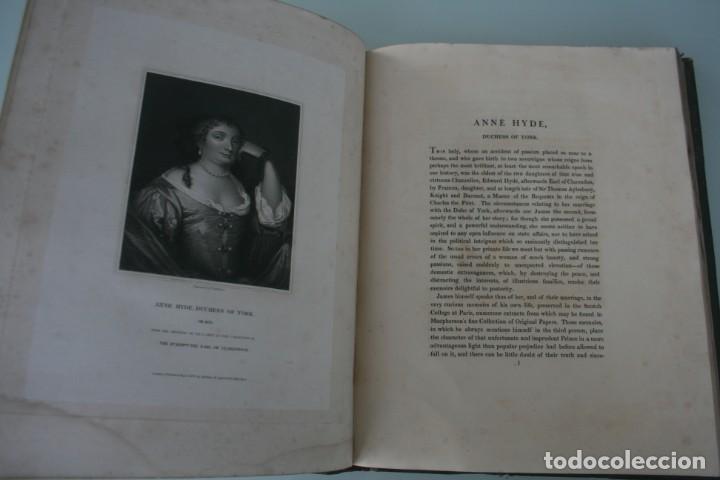 Arte: LODGE´S PORTRAITS – 20 GRABADOS Y BIOGRAFIA ILUSTRES PERSONAJES GRAN BRETANA 1835 - VOLUMEN VIII - Foto 4 - 187509235