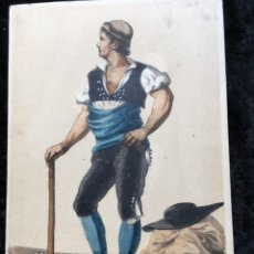 Arte: GRABADO ILUMINADO TRAJE REGIONAL - ZARAGOZA - HOMBRE. Lote 187531208