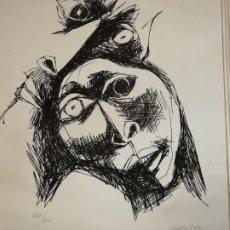 Arte: LITOGRAFÍA OSWALDO GUAYASAMIN NUMERADA Y FIRMADA 50X70. Lote 187562817