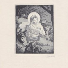 Arte: GRAVAT DE ALEXANDRE COLL – FIRMA A LLAPIS. Lote 188430736