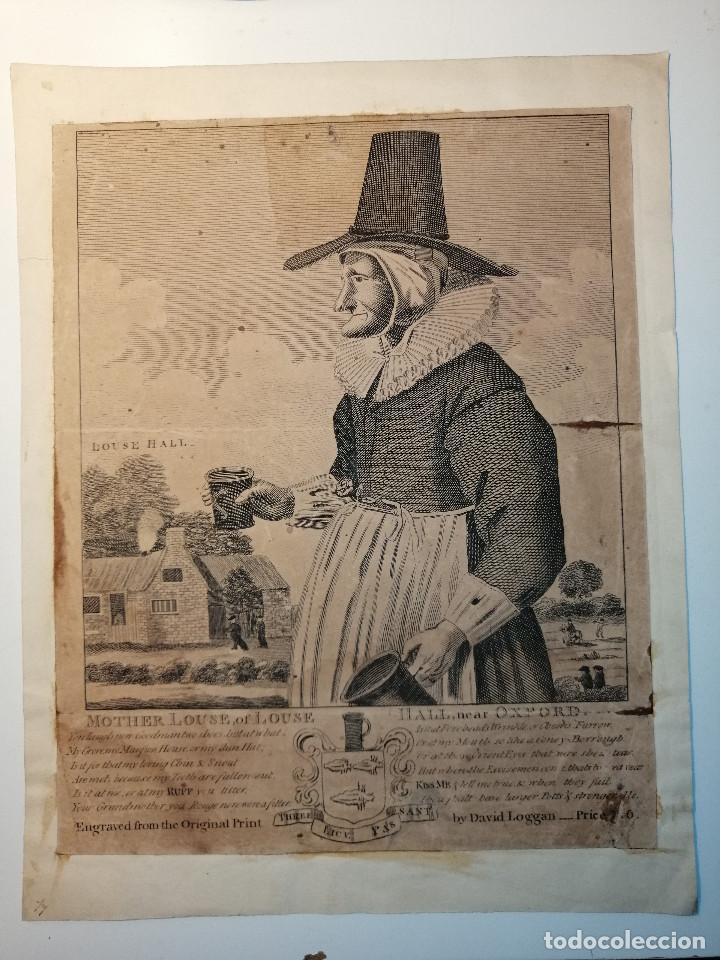 MOTHER LOUSE, OF LOUSE HALL, NEAR OXFORD. ALEWIFE, POSADERA, CERVECERA . C. JOHNSON, LONDON, 1793 (Arte - Grabados - Antiguos hasta el siglo XVIII)