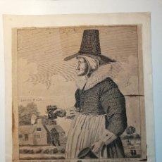 Arte: MOTHER LOUSE, OF LOUSE HALL, NEAR OXFORD. ALEWIFE, POSADERA, CERVECERA . C. JOHNSON, LONDON, 1793. Lote 188440506