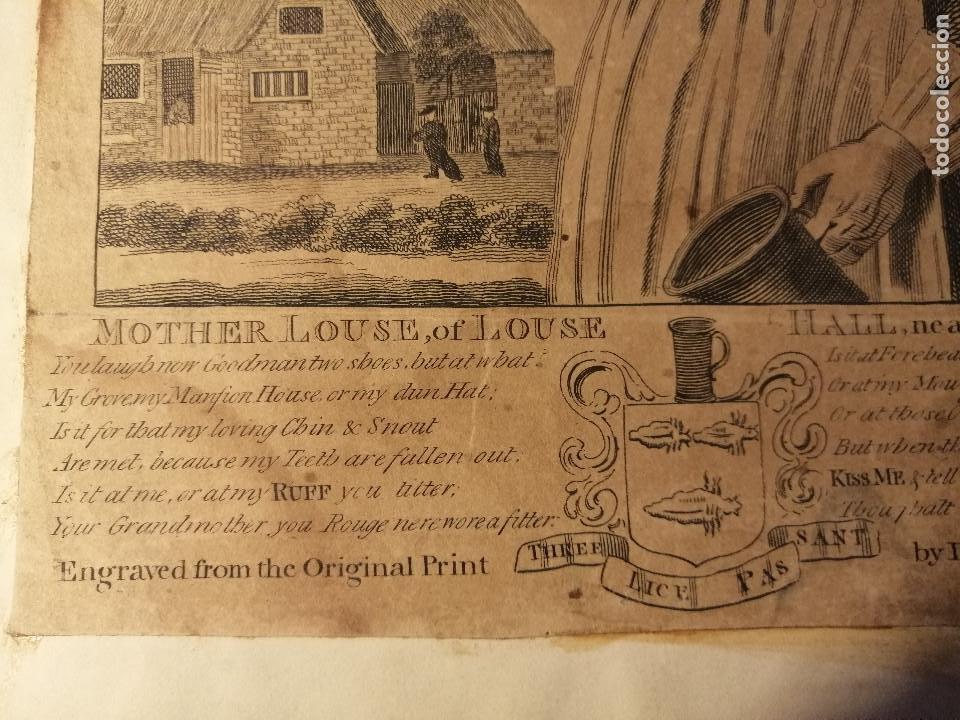 Arte: Mother Louse, of Louse Hall, near Oxford. Alewife, posadera, cervecera . C. Johnson, London, 1793 - Foto 4 - 188440506