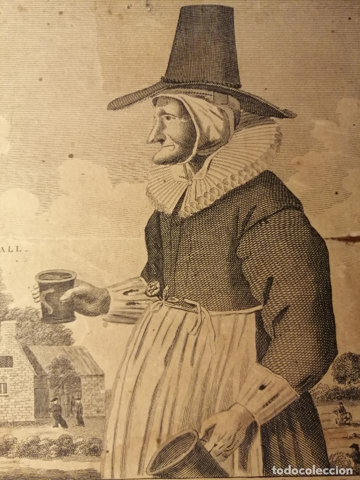 Arte: Mother Louse, of Louse Hall, near Oxford. Alewife, posadera, cervecera . C. Johnson, London, 1793 - Foto 6 - 188440506