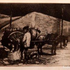 Arte: RICARDO BAROJA - AGUAFUERTE - LOS TRAPEROS. Lote 188494631