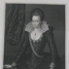 Arte: 1835 RETRATO GRABADO BIOGRAFIA ILUSTRE PERSONAJE GRAN BRETANA: LADY ARABELLA STUART MARQUIS OF BATH. Lote 188571545