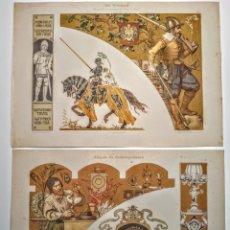 Arte: PAREJA PRECIOSOS GRABADOS MODERNISTAS CIRCA 1900 ANTIQUE UNIQUE. Lote 188675368