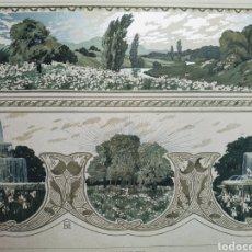 Arte: PRECIOSO GRABADO MODERNISTA CIRCA 1900 ANTIQUE UNIQUE. Lote 188675501