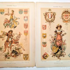 Arte: PRECIOSOS GRABADOS MODERNISTAS CIRCA 1900 ANTIQUE UNIQUE. Lote 188675965