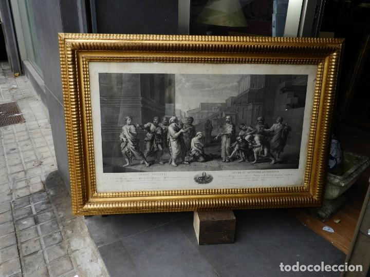 Arte: GRABADO CON FANTASTICO MARCO DE MADERA DORADA DE LA EPOCA S. XIX - Foto 17 - 188716942